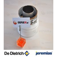 Jeremias adapter De Dietrich 60/100 na 80/125 złączka do kotła. TWIN1820501080125