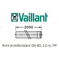 Vaillant rura 2000 mm fi 80 rura do komina PP kod 303255